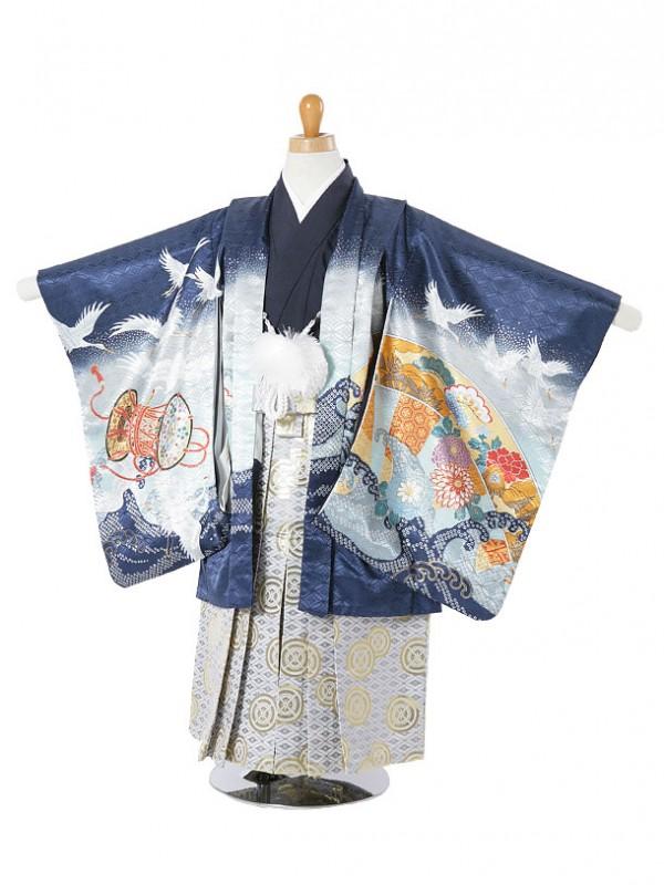 七五三(3歳袴)185-204鷹に鶴