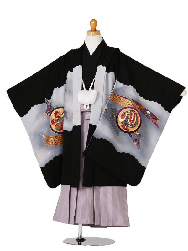 七五三(5歳袴)73-195兜に熨斗目
