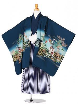 七五三(5歳袴)108-95兜と松