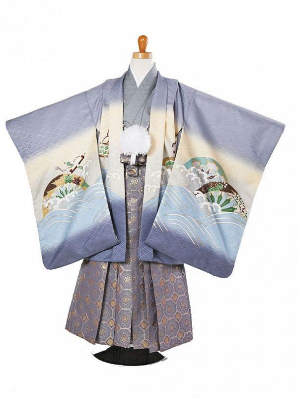 七五三(5歳袴)164-151宝船に生駒車