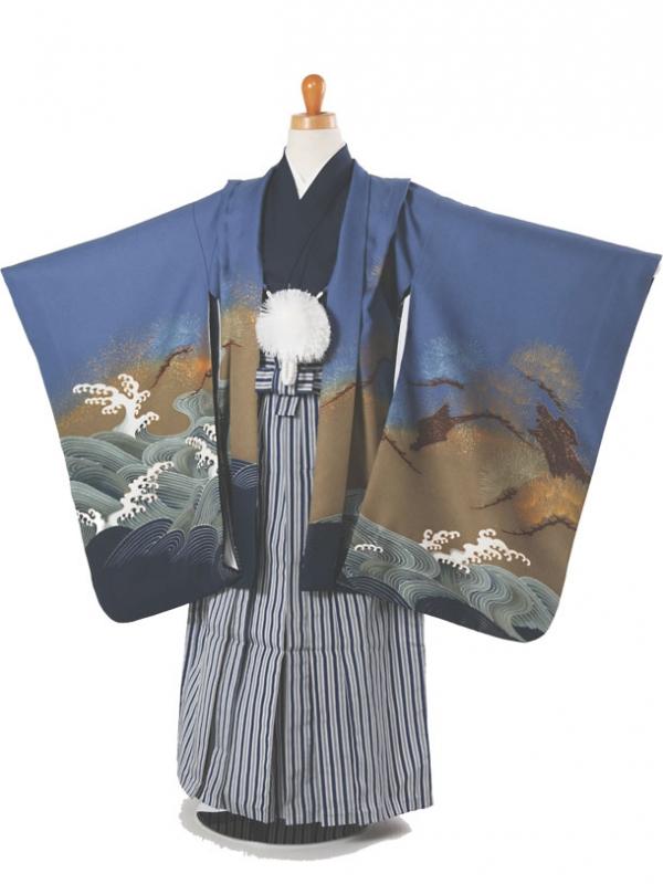 七五三(5歳袴)101-93鷹に波