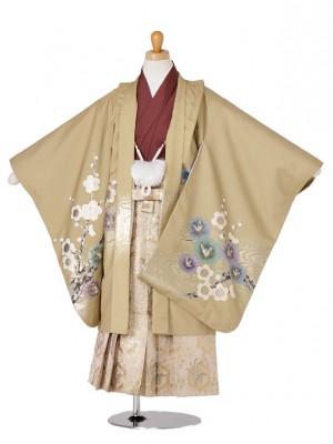 七五三(5歳袴)106-123兜に梅キャメル