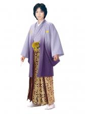 E-SV10-6-1 6号紫紋付金亀甲袴