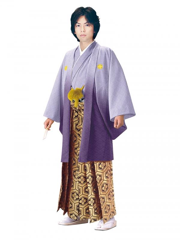 E-SV10-5-1 5号紫紋付金亀甲袴