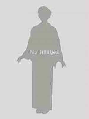 藍色地菱の中にシルバー・紺色×白×ゴールド縞袴