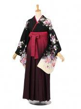 卒業袴レンタル 029黒