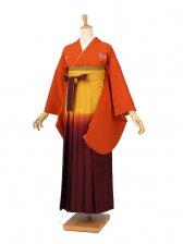 卒業袴レンタル 009オレンジ