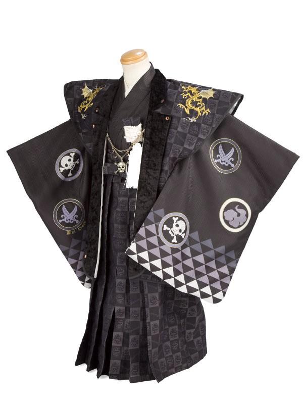 七五三(5才男児)5040ブルークロス 黒