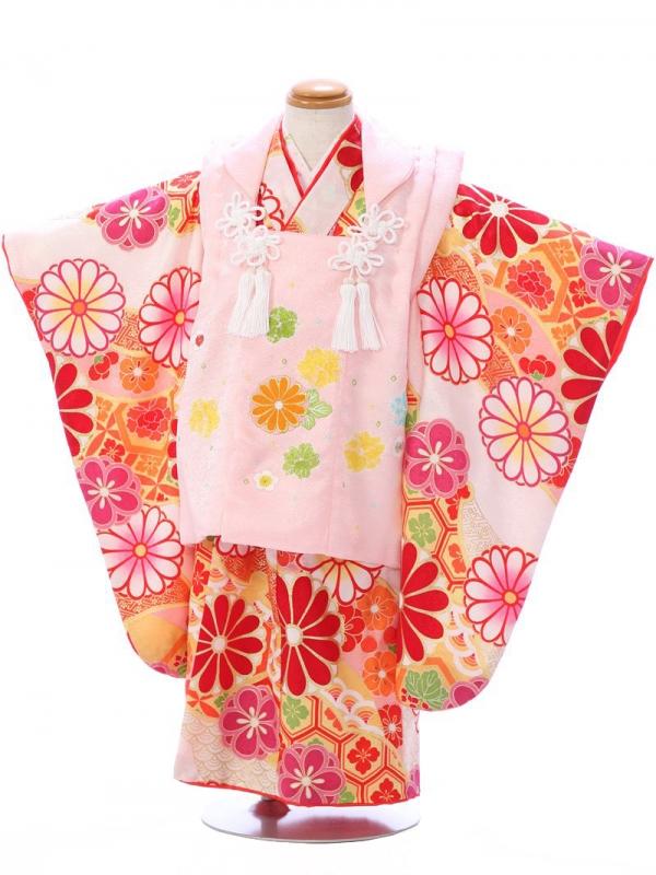 七五三(3歳女)SH001薄ピンク/白