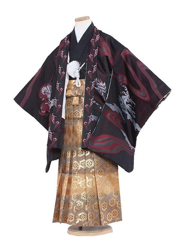 七五三・卒園式袴レンタル(7男)7012 ワイン/勇馬ひさかた