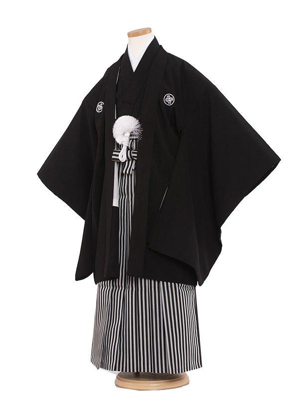 七五三レンタル(7歳男の子袴)7018 定番黒紋付