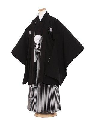 七五三レンタル(7歳男袴)7018 定番黒紋付
