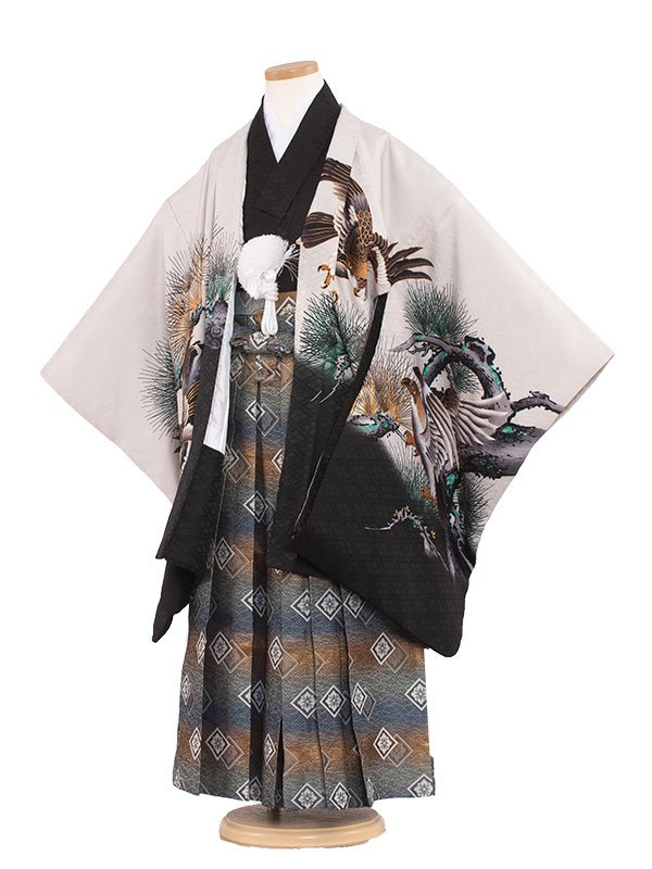 七五三レンタル(7歳男の子袴)7028 鷹と松