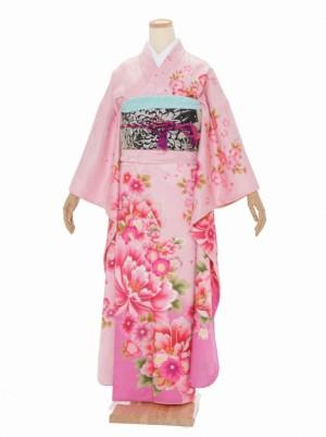 振袖 成人式 H051 ピンク 牡丹