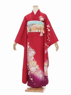 振袖 成人式 H041 赤 桜