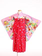 七五三(7歳女袴)女児袴sfts027Moe/ピンクメルヘン