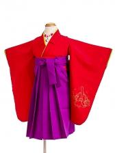 七五三(3歳女袴)女児袴sfts001赤ミッキー/紫無
