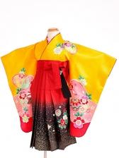 七五三(3歳女袴)女児袴sfts007山吹桜輪/赤