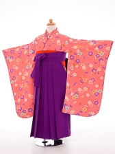 七五三(7歳女袴)女児袴sfts018ピンク小紋花