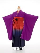 七五三(7歳女袴)女児袴sfts031紫無地/紺エン