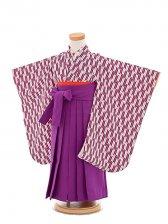 七五三(3歳女袴)女児袴sfts030紫矢羽/紫無