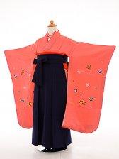 七五三(7歳女袴)女児袴sfts020濃ピンク小花