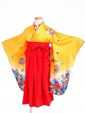 七五三(3歳女袴)女児袴sfts011黄色熨斗/赤