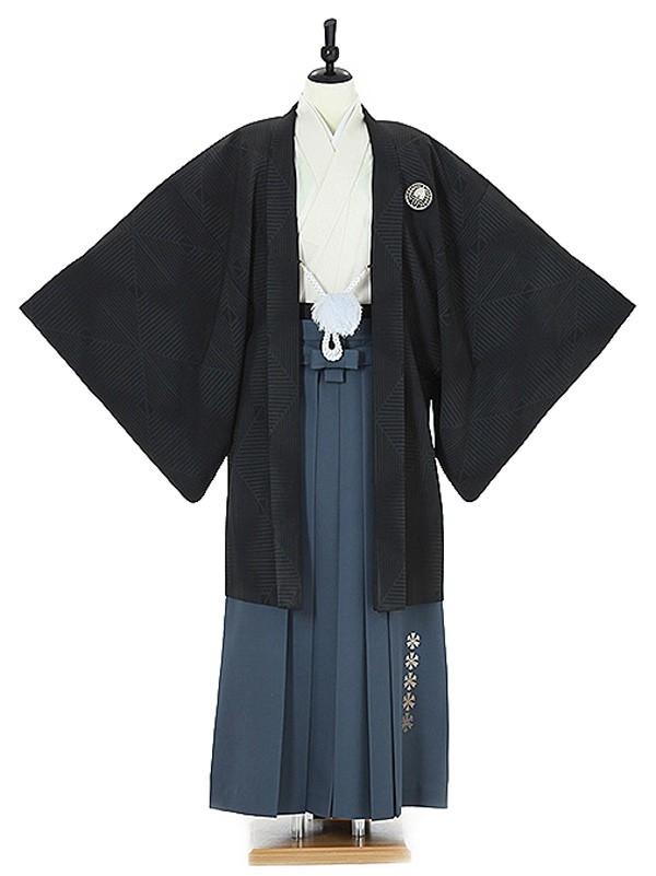 男性用袴0010 黒 藤紋