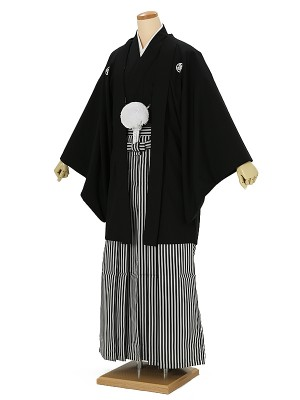 成人式卒業式男性用袴0028 黒紋付