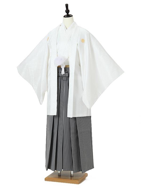 男性袴0002 白紋付