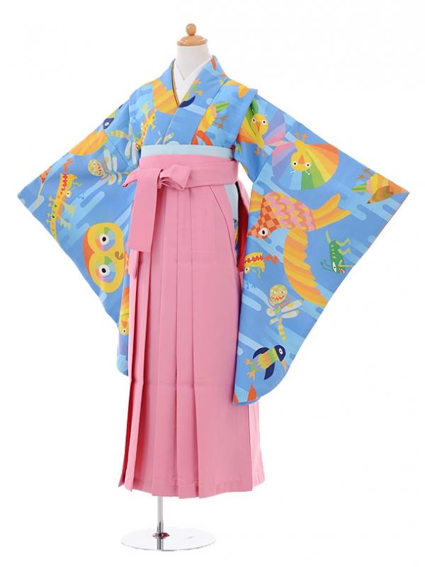 小学生卒業式袴レンタル(女の子)9362オリジナルANIMAL×
