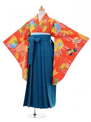 小学生 卒業式袴レンタル(女の子)9360オリジナルANIMAL