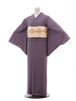 夏色無地 広幅絽T156  一つ紋 こだい紫色