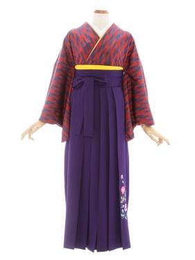 女性袴23/矢がすり赤青