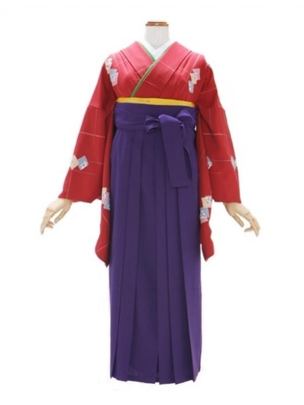 女性袴532/ワイン色地にちよ紙