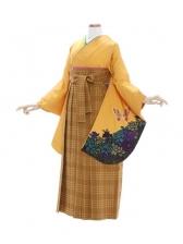 女性袴421/山吹色バラ蝶