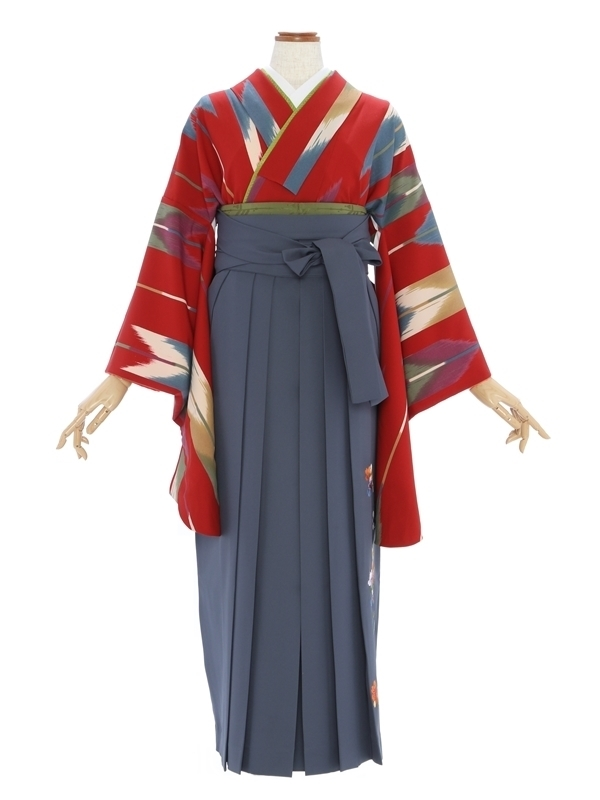 女性袴578/赤変わり矢がすり