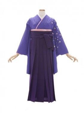 女性袴327/紫 桜花文