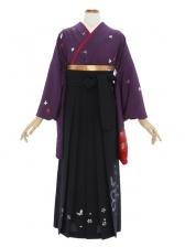 女性袴473/紫色に小花