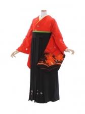 女性袴480/赤地に小花
