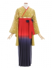 女性袴450/からし色桜花文