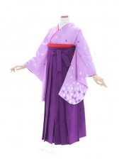 女性袴478/藤色に小花