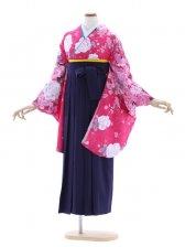 女性袴670/ショッキングピンク花柄