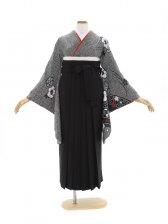 女性袴570/黒地にかのこ椿