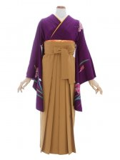 女性袴383/濃紫洋花染め