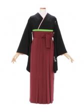 女性袴518/黒地に蝶にトンボ