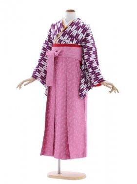 女性袴17/矢がすり紫