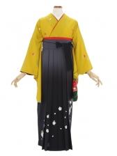 女性袴483/山吹色に小花