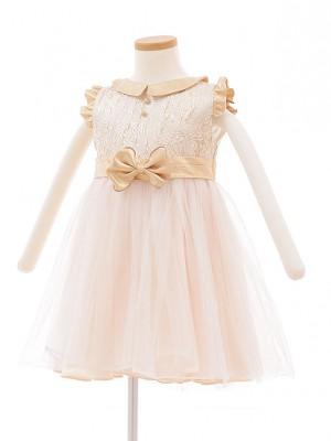 子どもドレス 5017 ベージュ ゴールドチュール