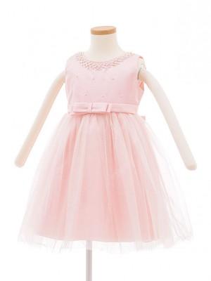子どもドレス 5015 ピンク パールチュール